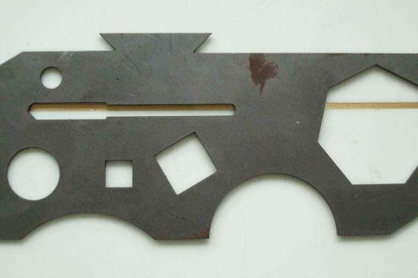 金属雕刻机切割的样品