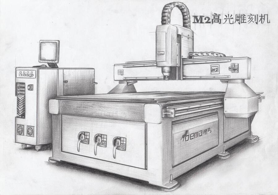 DEMA-M2迷你字雕刻机素描