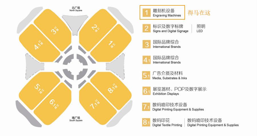 2019上海广印展展馆分布