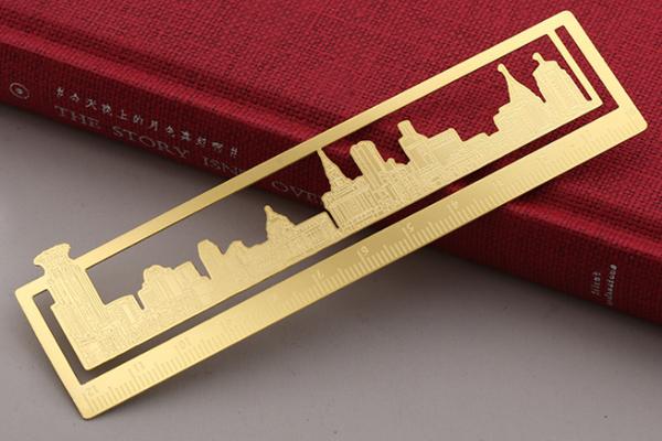 金属黄铜手账尺书签
